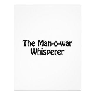 el whisperer de la guerra del hombre o folleto 21,6 x 28 cm