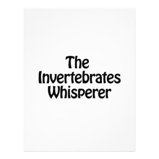 el whisperer de los invertebrados folleto 21,6 x 28 cm