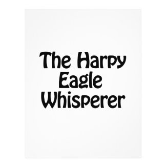 el whisperer del águila de harpy folleto 21,6 x 28 cm
