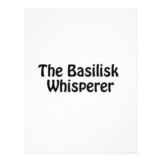 el whisperer del basilisco folleto 21,6 x 28 cm