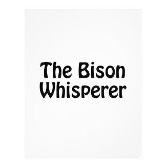 el whisperer del bisonte folleto 21,6 x 28 cm