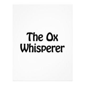 el whisperer del buey folleto 21,6 x 28 cm