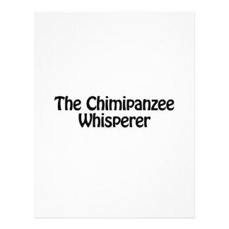 el whisperer del chimipanzee folleto 21,6 x 28 cm