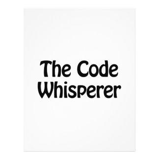 el whisperer del código folleto 21,6 x 28 cm