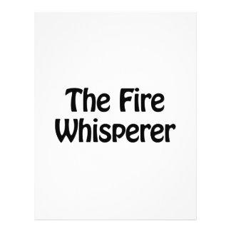 el whisperer del fuego folleto 21,6 x 28 cm