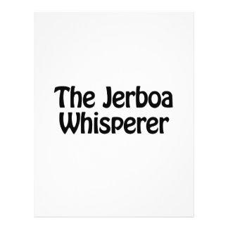 el whisperer del jerboa folleto 21,6 x 28 cm