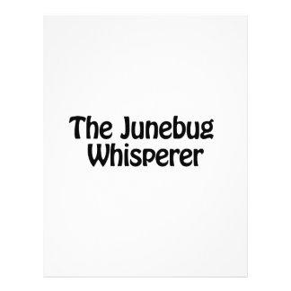 el whisperer del junebug folleto 21,6 x 28 cm