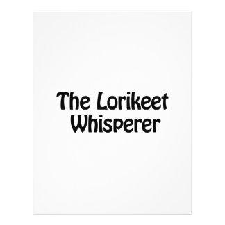 el whisperer del lorikeet folleto 21,6 x 28 cm