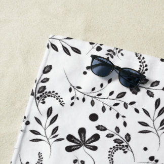 El Wildflower botánico sale de la toalla de playa