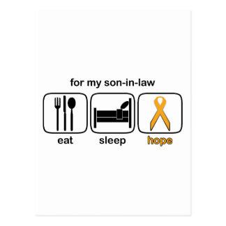 El yerno come la esperanza del sueño - leucemia postal