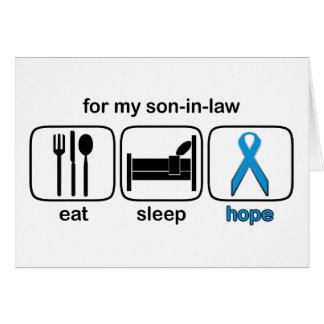 El yerno come la esperanza del sueño - linfoma tarjetón