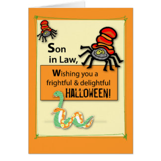 El yerno fastidia y silba Halloween Tarjeta De Felicitación