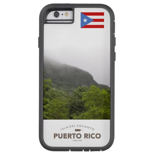 EL Yunque, bandera de Puerto Rico Funda De iPhone 6 Tough Xtreme