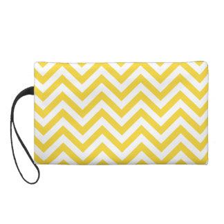 El zigzag amarillo y blanco raya el modelo de bolso de fiesta
