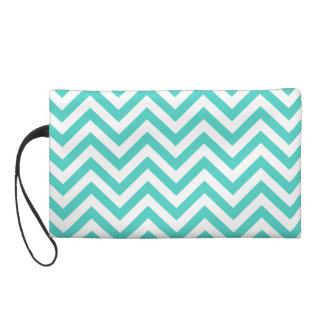 El zigzag azul y blanco del trullo raya el modelo bolso de fiesta