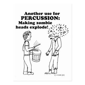 El zombi de la percusión estalla tarjeta postal