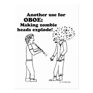 El zombi de Oboe estalla Postal