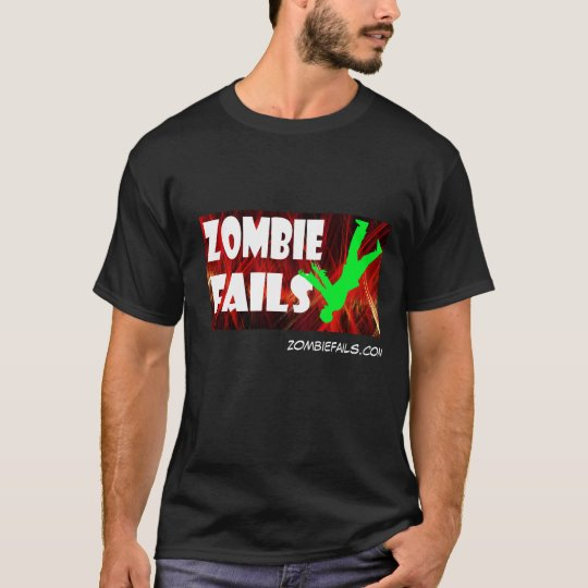 El zombi falla la camiseta oscura básica de los