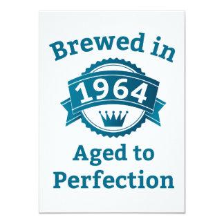 Elaborado cerveza envejecido en 1964 a la invitación 11,4 x 15,8 cm