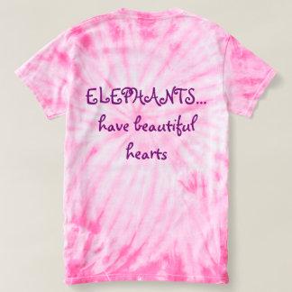 Ele-arte original en el tinte rosado del lazo camiseta