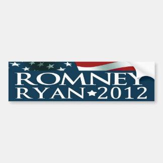 Elección 2012 de Mitt Romney Paul Ryan Pegatina Para Coche