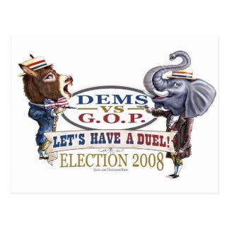 Elección política 2008 del duelo de la mascota postal