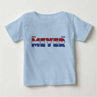 Elecciones blanco de Meyer 2010 del voto y azul Camisetas