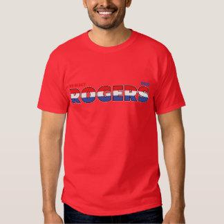 Elecciones blanco de Rogers 2010 del voto y azul Camisetas