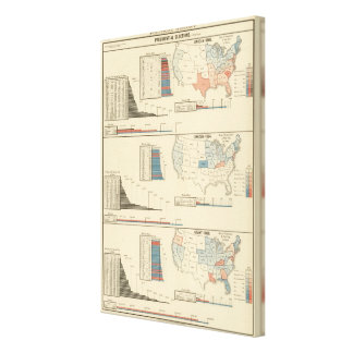 Elecciones presidenciales 1860-1868 lona envuelta para galerias