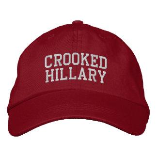 Elecciones torcidas 2016 de Hillary Gorra De Beisbol Bordada