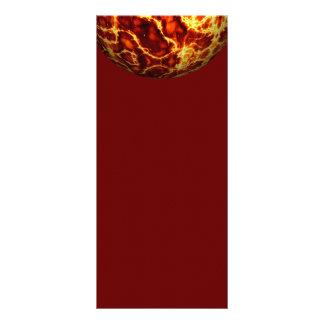 electri CALIENTE del fuego de la bola del PLANETA  Lonas Personalizadas
