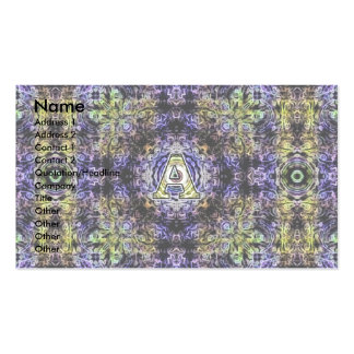 Electricidad púrpura amarilla A del fractal Plantillas De Tarjeta De Negocio