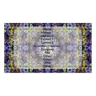 Electricidad púrpura amarilla A del fractal Tarjetas De Visita