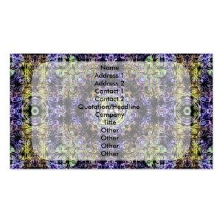 Electricidad púrpura amarilla B del fractal Tarjetas De Visita