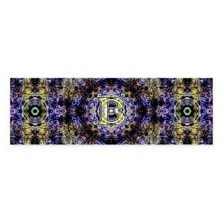 Electricidad púrpura amarilla B del fractal Tarjetas De Visita Mini