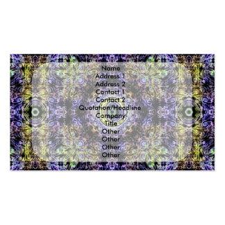 Electricidad púrpura amarilla C del fractal Tarjetas De Negocios