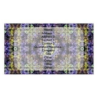 Electricidad púrpura amarilla D del fractal Tarjetas De Visita