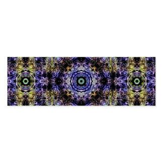 Electricidad púrpura amarilla del fractal tarjetas de visita mini