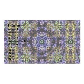 Electricidad púrpura amarilla del fractal tarjetas de visita