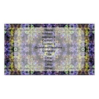Electricidad púrpura amarilla E del fractal Plantillas De Tarjetas De Visita