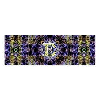 Electricidad púrpura amarilla E del fractal Plantillas De Tarjeta De Negocio