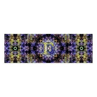 Electricidad púrpura amarilla F del fractal Plantillas De Tarjetas Personales