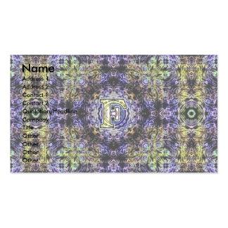 Electricidad púrpura amarilla F del fractal Tarjeta Personal