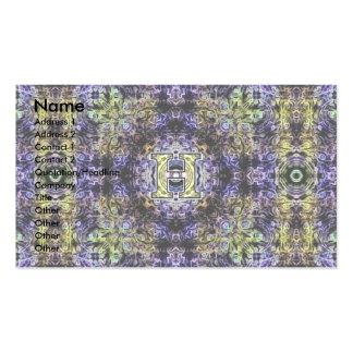 Electricidad púrpura amarilla H del fractal Plantillas De Tarjetas De Visita