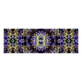 Electricidad púrpura amarilla H del fractal Tarjeta De Visita