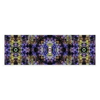Electricidad púrpura amarilla I del fractal Plantilla De Tarjeta De Negocio