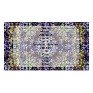 Electricidad púrpura amarilla I del fractal Tarjeta Personal
