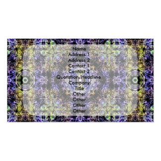 Electricidad púrpura amarilla I del fractal Tarjetas De Visita