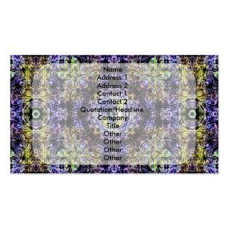 Electricidad púrpura amarilla J del fractal Plantilla De Tarjeta Personal