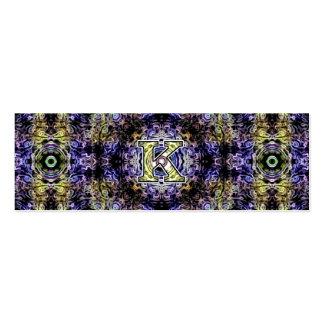Electricidad púrpura amarilla K del fractal Tarjeta De Visita